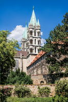 naumburg, germany - 18.06.2019 - cathedral st. peter and paul from the back