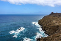 In the north of La Gomera - steep coast Punta San Lorenzo near Hermigua