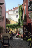 Artisans yard in the old town of Tallinn in Estonia