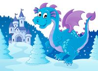 Winter dragon theme image 2