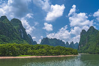 Panorama of Li River in China