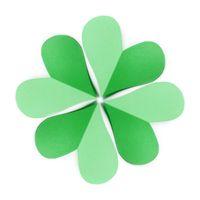 Craft paper composition of green shamrock's leaf.