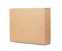 Blank brown flat cardboard box