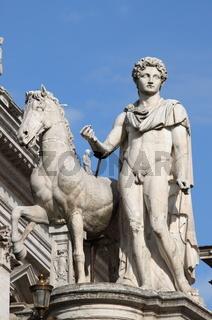 Castor statue in Campidoglio square. Rome