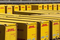 Distribution center of Deutsche Post DHL, Rheinsberg, North Rhine-Westphalia, Germany, Europe