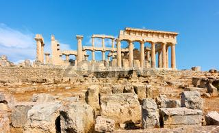 Ancient greek temple of Aphaea in Aegina