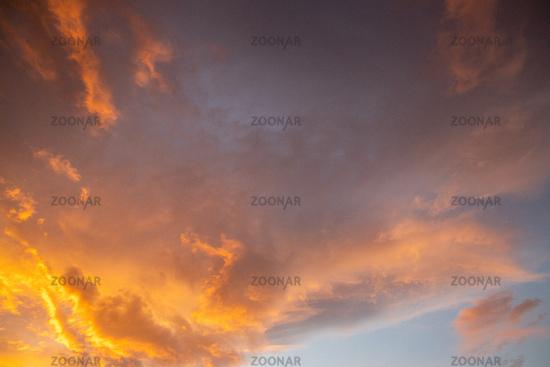 Background texture sky sunset