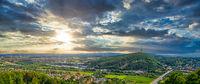 Panorama over the town of Porta Westfalica in North Rhine-Westphalia