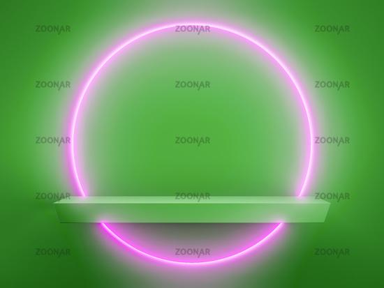 light circle display background