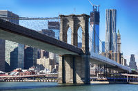 Brooklyn bridge from East river