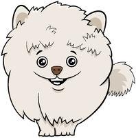 pomeranian dog or puppy cartoon illustration