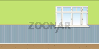 Illustration of a room with window, seamless