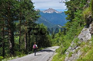 Lechtal, Österreich, Tirol, Blick Lechabwärts