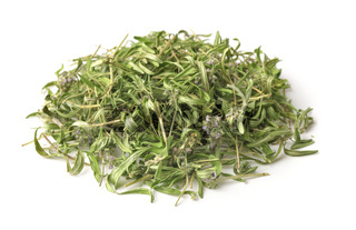 Heap of dried wild thyme