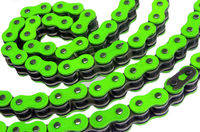 green motorcycle chain on a white background
