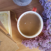 Coffee and lilac