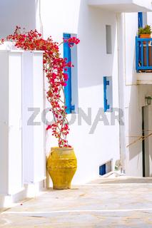 Mykonos street view in Greece, Cyclades