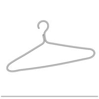 Metal clothes hanger, empty. Vector illustration - isolate on a white background