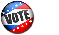 Election pin button for United States elections