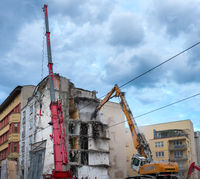 Demolition of a residential building