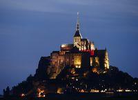 Saint Michael's Mount by night