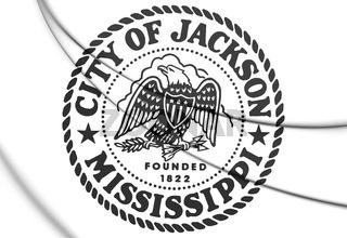3D Seal of Jackson (Mississippi), USA. 3D Illustration.