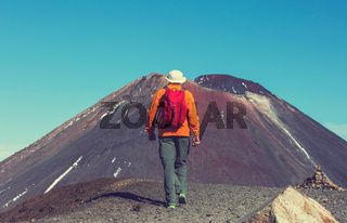 Hike in New Zealand volcano