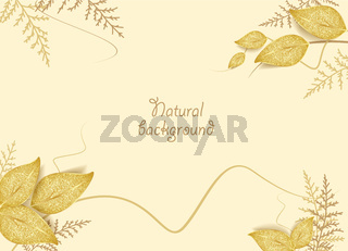Gilded greeting card leaves