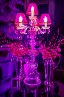 Decor with candles and lamps for corporate event or gala dinner