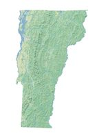 High resolution topographic map of Vermont