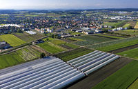 The municipality of Kerzers in the vegetable growing area Seeland - Grosses Moos,Switzerland