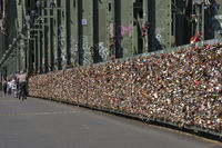 Love lock at the Hohenzollernbridge at Cologne
