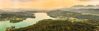 Pyramidenkogel, view of the Lake Worthersee, Carinthia, Austria