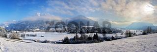 Oberstdorf ski resort in the German Alps