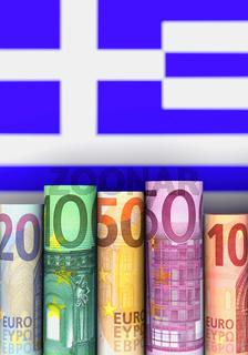 Illustration Greece and money