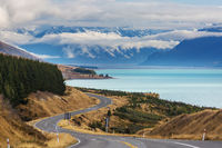 Road in New Zealand mountains