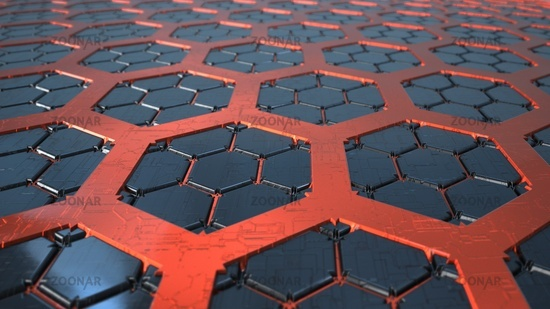 SciFi Futuristick Hexagon Background