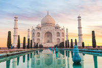 Taj Mahal in India without people, Agra