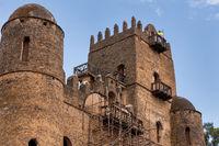 Fasil Ghebbi, royal castle in Gondar, Ethipia