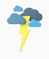 Thunderstorm 3D Illustration Isolated on White
