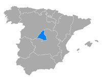 Karte von Madrid in Spanien - Map of Madrid in Spain