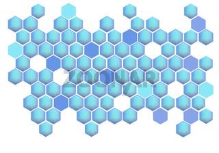 Modern abstract blue Hexagons background