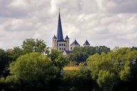 historical Brauweiler Abbey, a former Benedictine monastery located at Brauweiler near Cologne