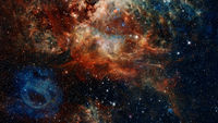 Outer space background. Elements of this image furnished by NASA