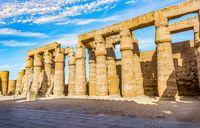 Colonnade in Karnak Temple