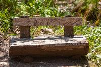 Stones in driftwood barrier Feilnbach