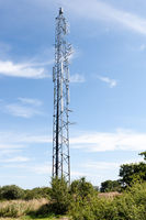 Communications tower in the countryside