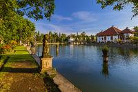 Water Palace Taman Ujung in Bali Island Indonesia