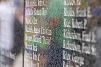 The wall of worker names from Mount Rushmore close up