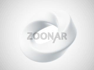 3D torus isolated on white background.